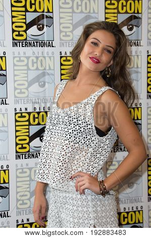 San Diego, CA - July 25, 2014:  Danielle Campbell of The CW's The Originals arrives at Comic Con 2014 in San Diego, CA.