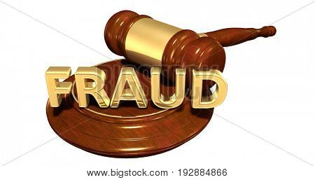 Fraud Law Concept 3D Illustration
