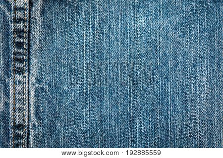 A close up of the seam on some jeans