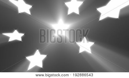 Abstract Background With Shiny Stars