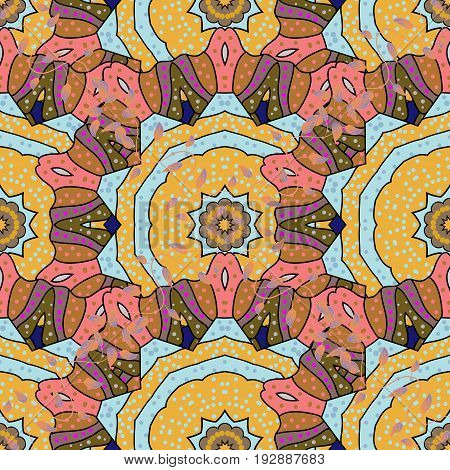 Mandala flower coloring book for adults Vector illustration. Anti-stress coloring for adult. Background. Lace seamless pattern. Zentangle style.