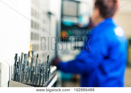 drill bits in mechanic manufacturing factory