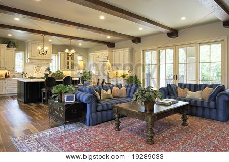 Great Room with Wood Floors