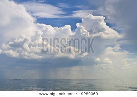 Clouds Over The Sea Bay