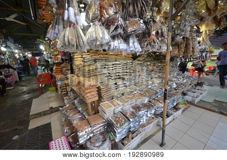 Salted Fish,anchovy And Seafood Products At Filipino Market