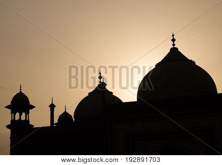 Silhouette photo of Mehman Khana of Taj Mahal Mehman Khana is a drawing room where guests are entertained in many houses in North India