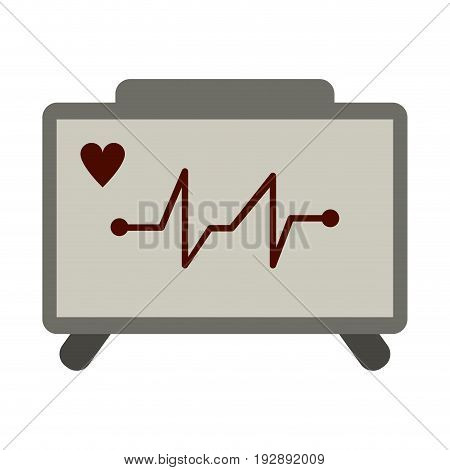 heart electrocardiogram icon image vector illustration design