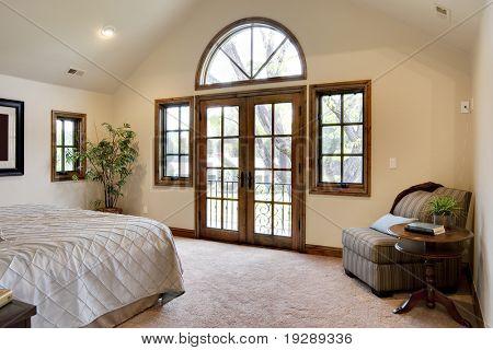 Bedroom with French Door Balcony