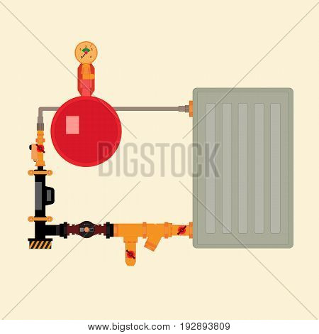 The technology of the electric boiler in the home.