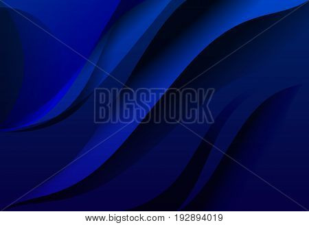 Royal Blue gradient abstract line wavy background