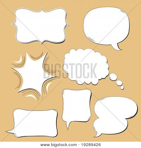 Dialog Bubbles Captions and Attention Bursts in clean fun design