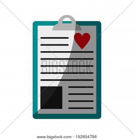 medical history icon image vector illustration design