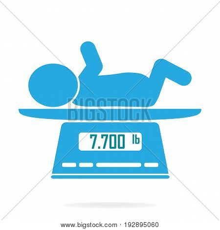 Weight scale for infant icon Digital scales measure weight in pounds