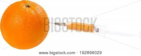 Orange genetic genetically white background nature food