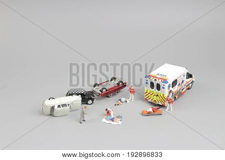 Paramedics Transport A Patient To Ambulance Car