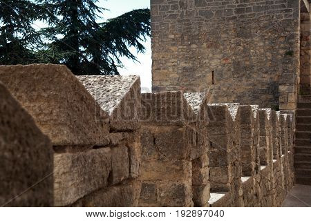 Detail Of The San Marino Castle