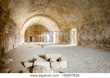 Long Chamber In Abandoned Old Fortress