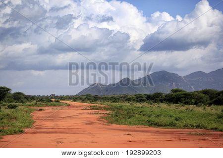 National Park Tsavo East National in Kenya