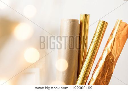 Golden Paper Rolls