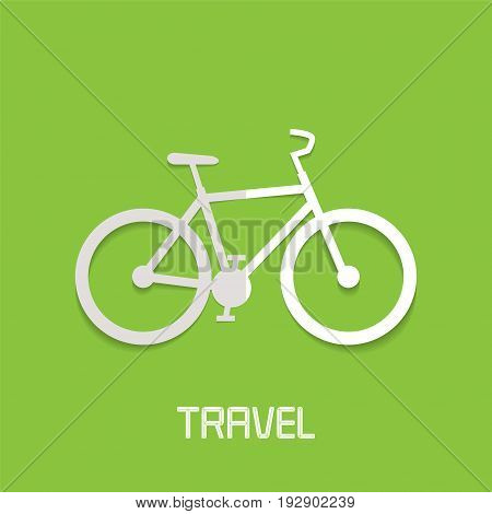 Bicycle vector illustration logo. Sports and adventures concept active traveling