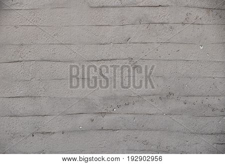 Gray Wall Of Embossed Decorative Plaster