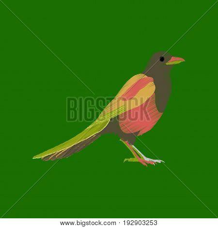 flat shading style icon magpie nature animal