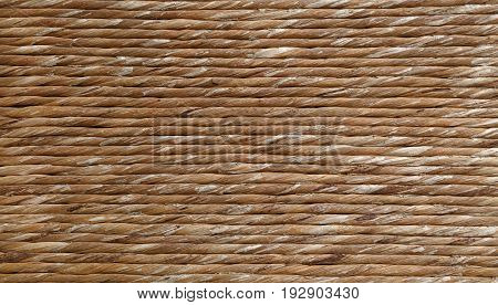 Background Texture Of Brown Natural Reed Twine