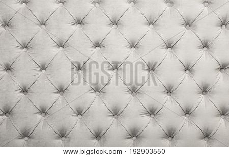 White Capitone Tufted Fabric Upholstery Texture