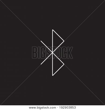 bluetooth line icon, strikeout eye outline vector logo illustration, linear pictogram isolated on black