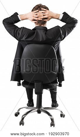 Business sitting chair man businessman young adult office space
