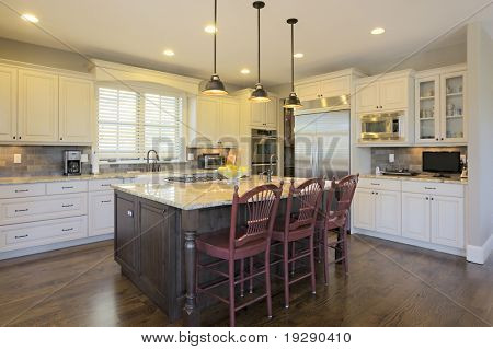 Luxury Kitchen with Center Island Area