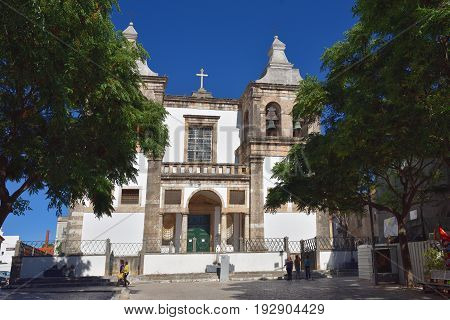 Setubal Cathedral, St Mary Of Grace. Portugal
