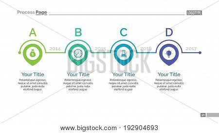 Process chart slide template. Business data. Graph, diagram, design. Creative concept for infographic, templates, presentation, report. Can be used for topics like planning, management, training.