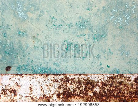 Blue grunge rusted metal texture old rust background