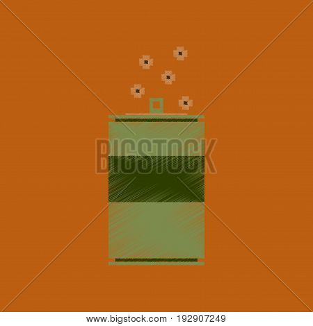 flat shading style icon pixel can of soda
