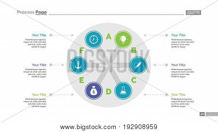 Round diagram with branches. Process chart. Element of presentation. Concept for infographic, business templates, marketing, annual report. Can be used for topics like business, analysis, management