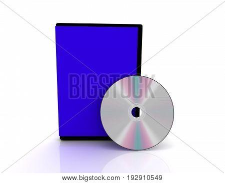 3d cd cover on white background , 3d renderd illustration