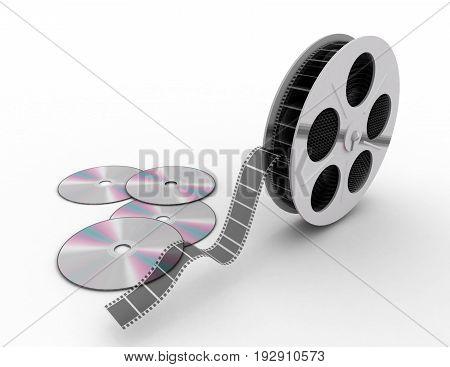 cd isolated on white , 3d renderd illustration
