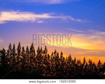 view of mountain on twilight sky after sunset