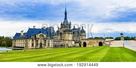 Great castles  of France- Chateau de Chantilly