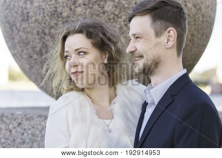 Couple looking at something fun (Saint Petersburg, Russia)