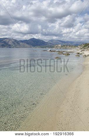 View of beautiful sea in South Sardinia