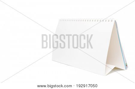 paper calendar isolated on white background