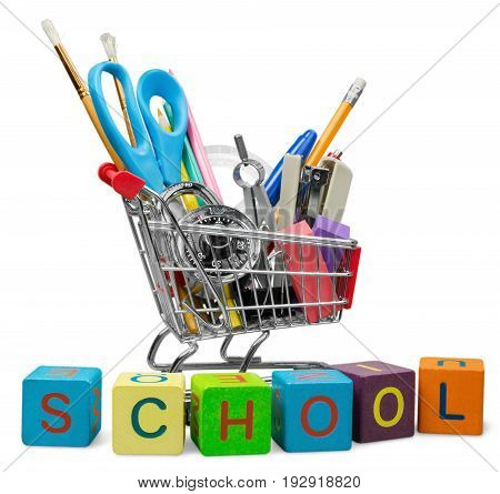 Art school supplies school supplies back to school green color