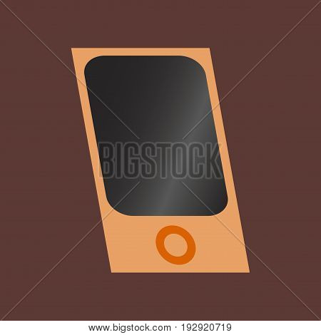 Technology gadget in flat design mp3 player