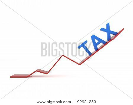 Tax concept with Arrow  - 3D Rendering Image