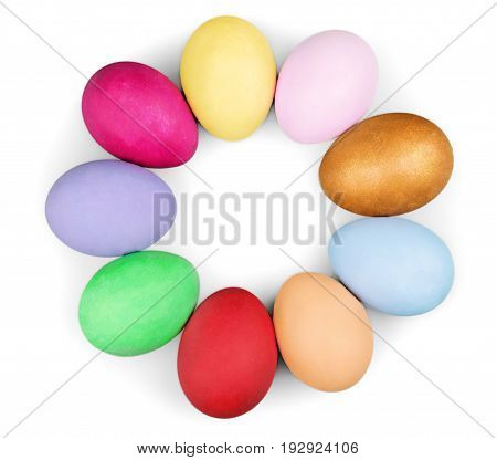 Color colorful easter handmade eggs green red