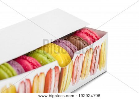 Gift dessert macaroons macaroon green color yellow