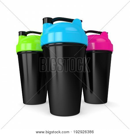 3D Render Of Shakers Isolated Over White