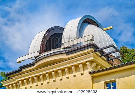 Prague Czech Republic. Observatory on Petrin Hill